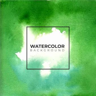 Abstrato verde aquarela, pintura à mão. salpicos de cor no papel