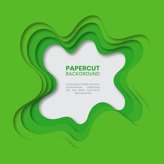 Abstrato verde papel cortado fundo