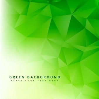 Abstrato verde poligonal