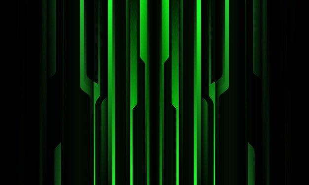 Abstrato verde preto metálico sombra linha preta cyber padrão geométrico design moderno