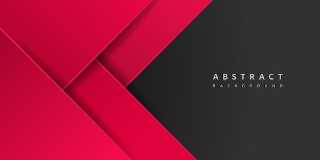 Abstrato vermelho 3d com espaço em branco da camada de papel
