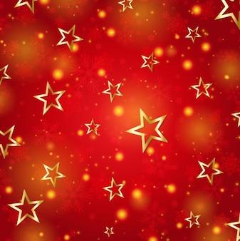 Abstrato vermelho com estrelas douradas