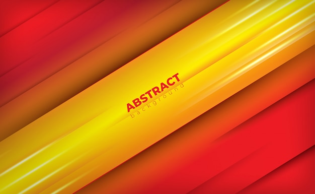 Abstrato vermelho e amarelo com luz brilhante