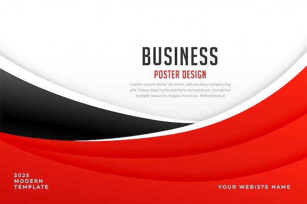 Abstrato vermelho e fundo de onda para apresentação de negócios