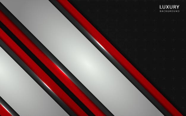 Abstrato vermelho e prata sobrepostos em fundo escuro