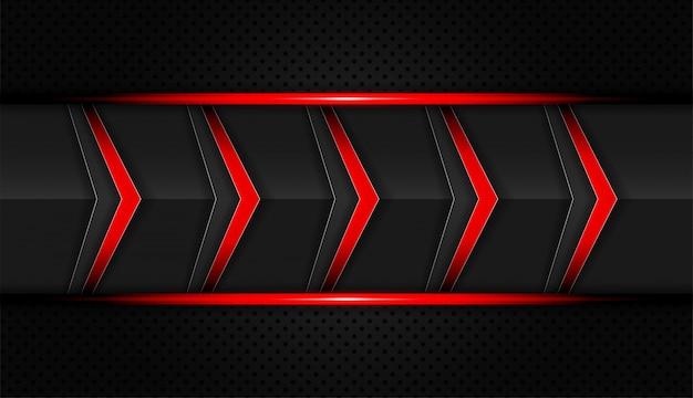 Abstrato vermelho e preto cor setas tecnologia vector fundo
