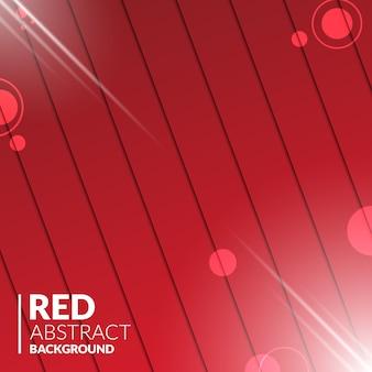 Abstrato vermelho madeira com luzes brilhantes