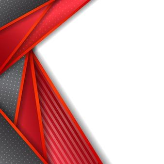 Abstrato vermelho metálico sobreposição em cinza em branco design de espaço em branco moderno luxo futurista fundo vector