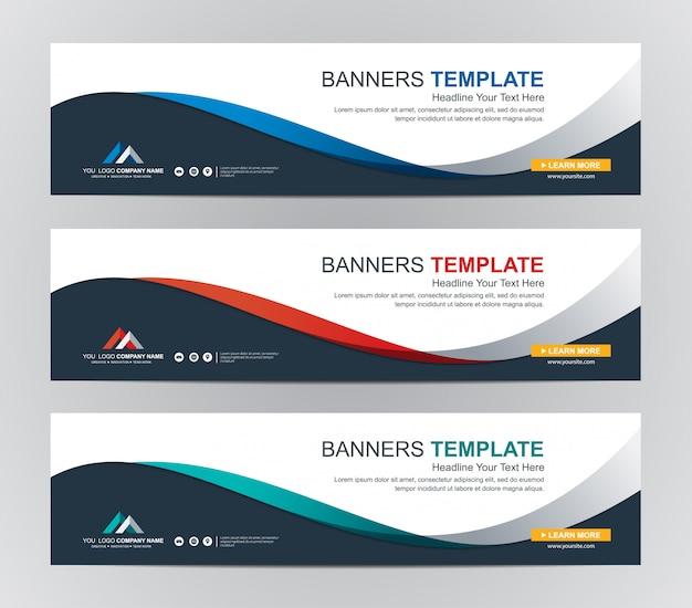 Abstrato web banner design fundo ou cabeçalho modelos