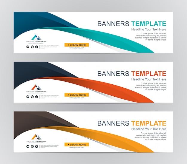 Abstrato web banner design plano de fundo ou cabeçalho modelos