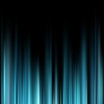 Abstratos azuis raios de luz mágicos sobre fundo escuro.