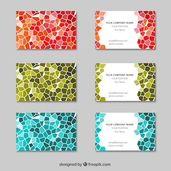 Abstratos cartões de visita