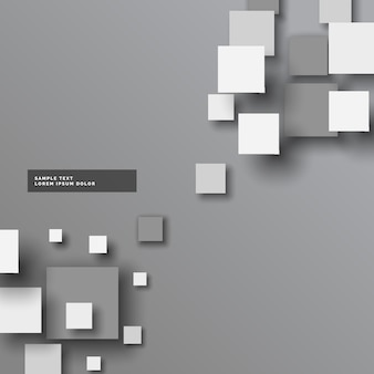 Abstratos cinza 3d quadrados vetor fundo