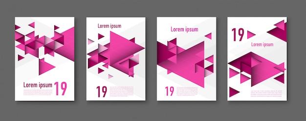 Abstratos coloridos geométricos fundos triangulares. folheto moderno.