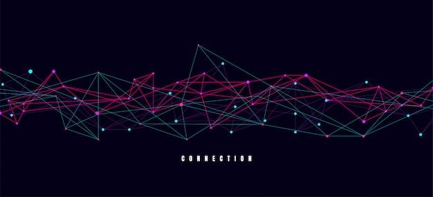 Abstratos, conectando, pontos, e, linhas, com, geomã