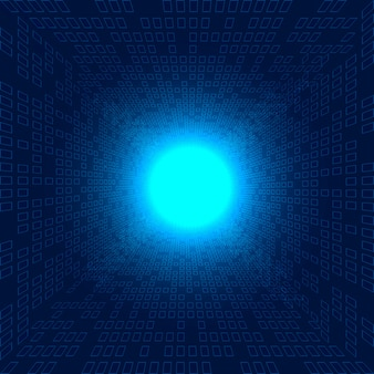 Abstratos, grande, dados, quadrados, padrão, futurista, azul, fundo