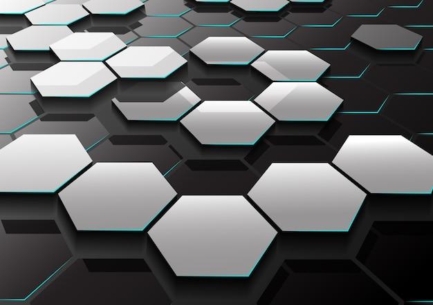 Abstratos, hexágono, padrão, fundo