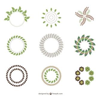 Abstratos logos ecológicos verdes