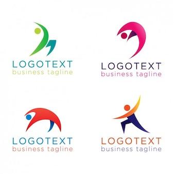 Abstratos pessoas logotipos