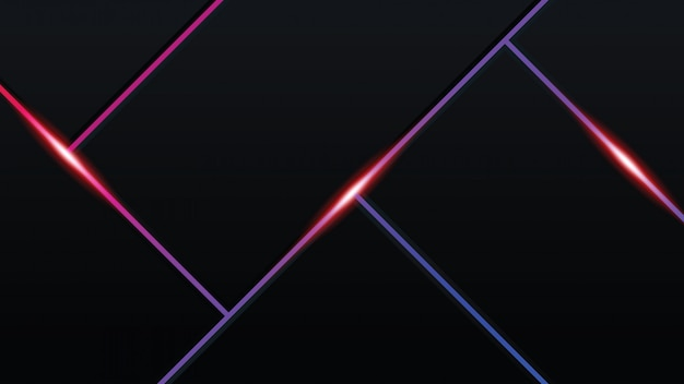 Abstratos, tech, modernos, fundo, com, glowing, néon, luzes