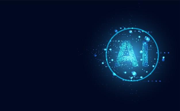 Abstratos tecnologia ai computação em círculo