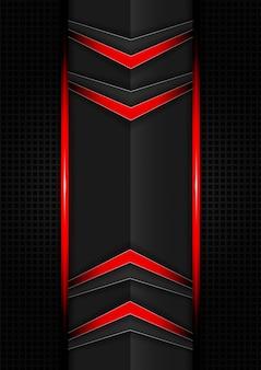 Abstratos, vermelho preto, tech, setas, fundo