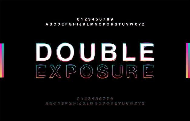 Abstrct alfabeto dupla exposição glitch estilo moderno