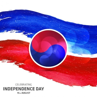 Abstrect coreia do sul abstrect dia da independência ilustração vetorial