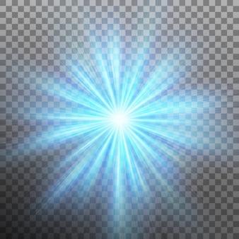 Abtraia a energia azul com um fundo de explosão. fundo transparente apenas em