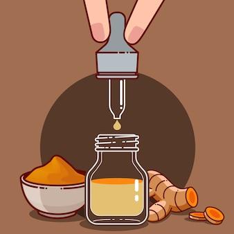 Açafrão para produtos saudáveis e cosméticos