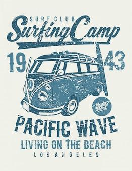 Acampamento de surf