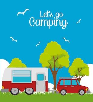 Acampamento de verão e viagens