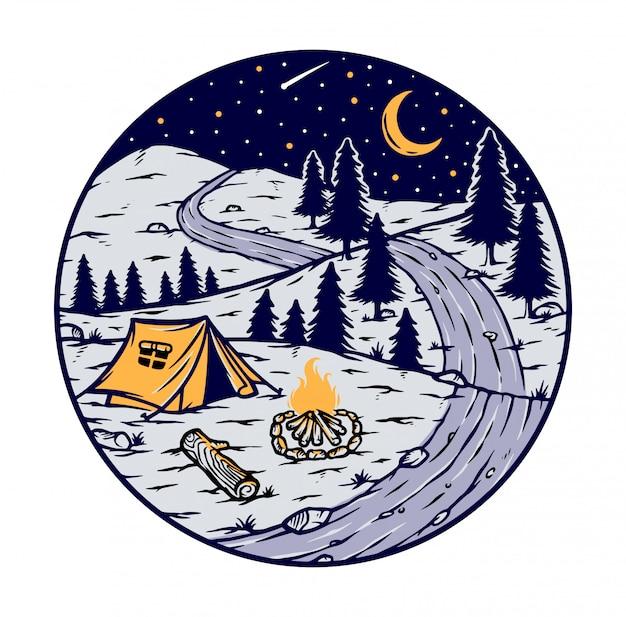 Acampar à noite