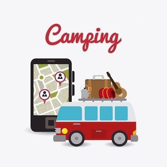 Acampar, viajar e férias