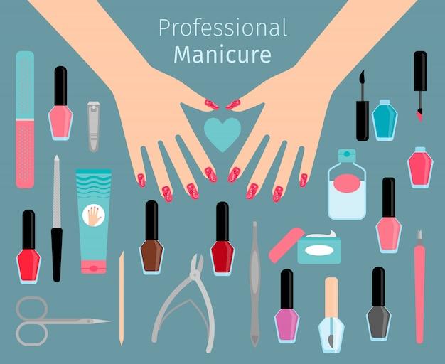 Accessórios de manicure profissional