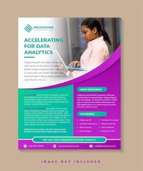 Acelerando para modelo de folheto de análise de dados folheto atraente para promover ciência e tecnologia