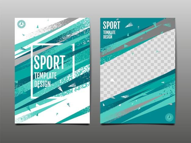 Acelere a disposição, molde, fundo abstrato, cartaz dinâmico, escova, bandeira do esporte, grunge, ilustração.