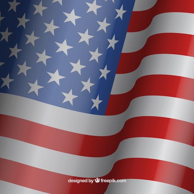 Acenando fundo da bandeira americana