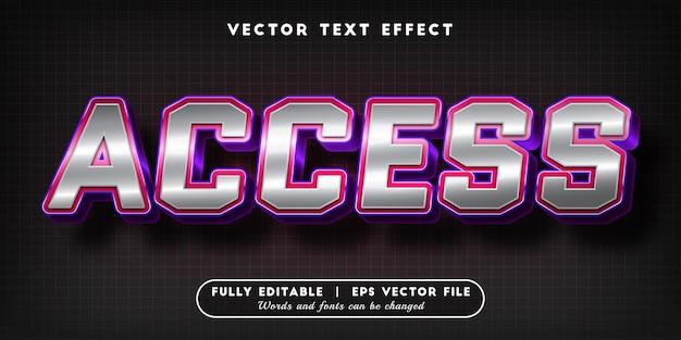 Acesse o efeito de texto com estilo de texto editável