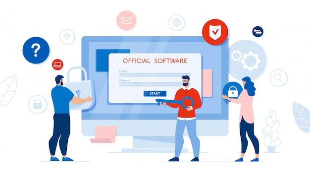 Acesso oficial ao software, auditoria, análises de programas
