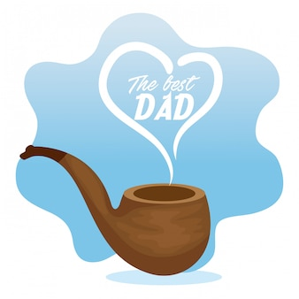 Acessório de tubo para a celebração do dia dos pais