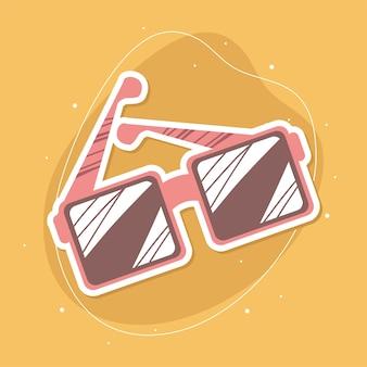 Acessório de visão para óculos de sol Vetor Premium
