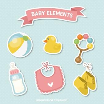 Acessórios bonitos do bebê etiquetas ajustadas