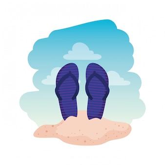 Acessórios de chinelos de verão