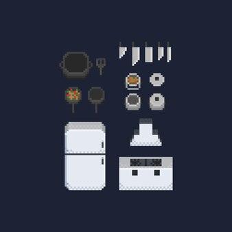 Acessórios de cozinha pixel