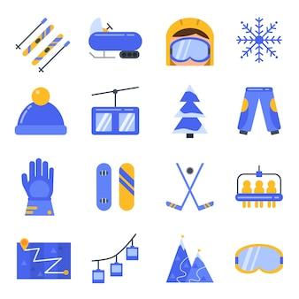 Acessórios de esporte de inverno.