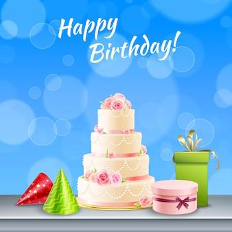 Acessórios de festa de aniversário realistas