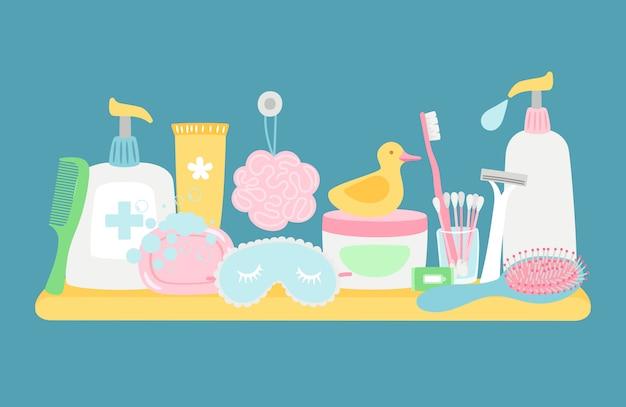 Acessórios de higiene do banheiro
