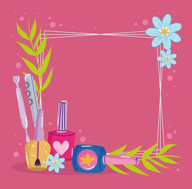 Acessórios de manicure floral