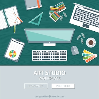 Acessórios de mesa em design plano